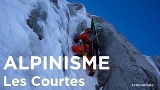 Face Nord des Courtes Voie des Suisses Chamonix Mont-Blanc alpinisme montagne ski de randonnée