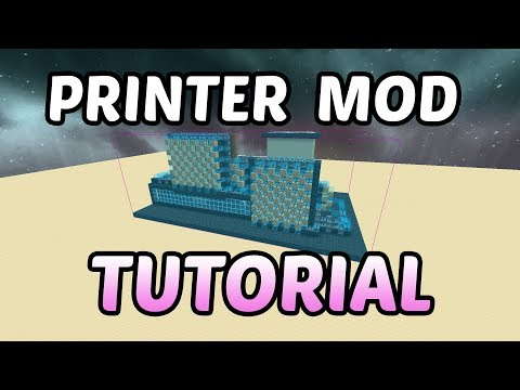 Schematica Printer Mod TUTORIAL - How to Auto Build Faster in Minecraft
