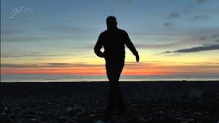 Море... Время... Люди... Закат на Чёрном море. Морской прибой зимой. Солнце над морем. Вечернее море