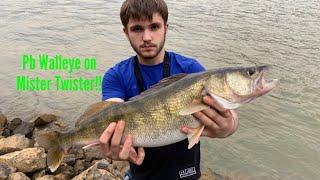 PB Walleye On White Mister Twister!