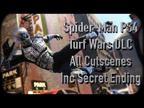 Spider-Man Ps4 Turf Wars DLC All Cutscenes Movie Inc SECRET ENDING (видео)