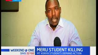 Meru students condemn killing of Meru student leader
