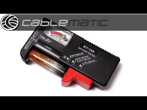 Comprobador de pilas universal distribuido por CABLEMATIC ®