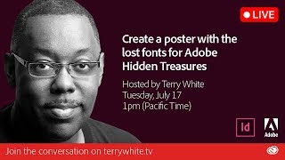 Create a poster with the Lost Fonts for Adobe Hidden Treasures