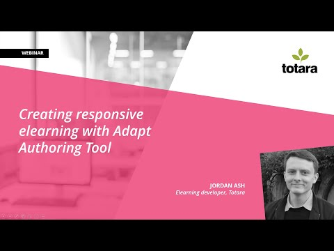 Creating responsive elearning with Adapt Authoring Tool