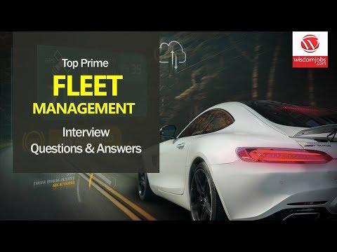 Fleet Management Interview Questions and Answers 2019   Fleet Management   Wisdom it Services