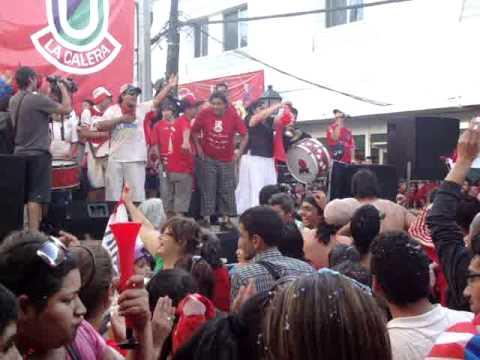 """""""Unión La Calera a primera división  (2010)"""" Barra: La Banda Cementera • Club: Unión La Calera"""