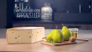 Cassoletes amb peres, Appenzeller®, mel i romaní Video