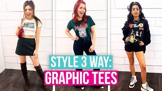 The BEST Ways to Style Graphic Tees! (Style 3 Way)