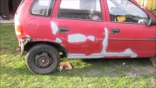 Opel Corsa B skorodowane nadwozie. Car body restoration
