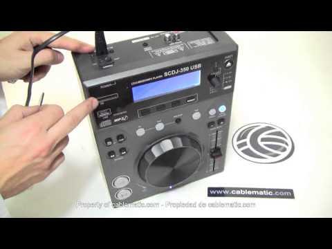 Reproductor CD MP3 USB SD compacto DJ modelo 350USB distribuido por CABLEMATIC ®