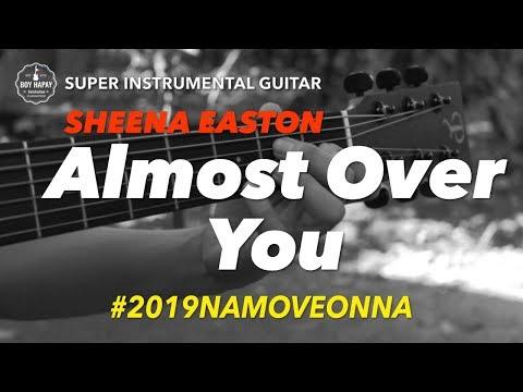Sheena Easton Almost Over You instrumental guitar karaoke version with lyrics