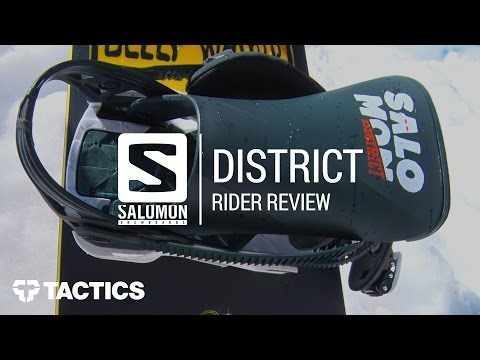 Salomon District 2018 Snowboard Binding Rider Review – Tactics.com