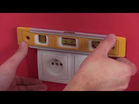 Montáž zásuvek a vypínačů  značky HAGER