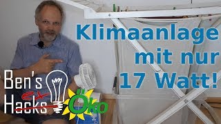 Eine klimafreundliche Klimaanlage - kühl mit 17Watt