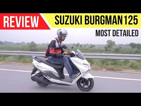 Suzuki Burgman Street 125 Review | India | Most Detailed |