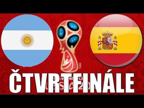2018 FIFA World Cup Russia | ČTVRTIFINÁLE | ARGENTINA - ŠPANĚLSKO |  FIFA 18 | CZ/SK