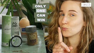 Comparing 5 SUSTAINABLE DEODORANTS | Which eco-friendly deodorant is the best one?