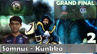 Somnus - Kunkka Gameplay | GOOD GAME | PSG.LGD vs OG Game 2 | Grand Final TI 8