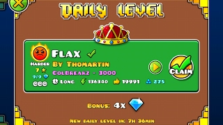 Geometry Dash [2.1] | Daily Level 07/02/17 | Flax by Thomartin (3 coins)