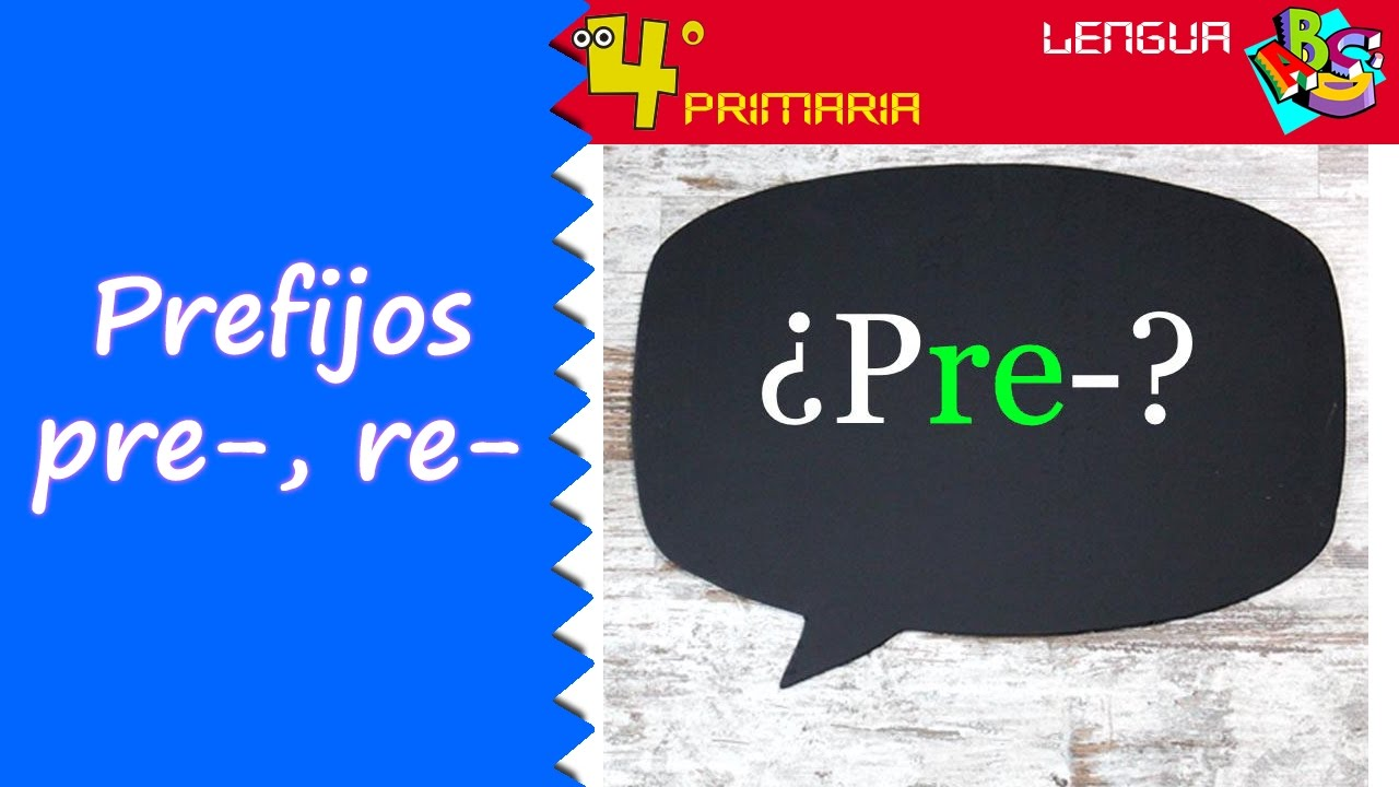 Lengua Castellana. 4º Primaria. Tema 4. Prefijos -re y -pre