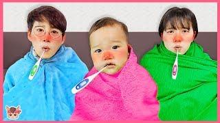 비오는날 밖에서 놀면 감기 걸려요! 인기영상 20분 모음 카페놀이 병원놀이 주방놀이 장난감 놀면서 친구들에게 따뜻한 차 줘요 cold for kids   MariAndKids