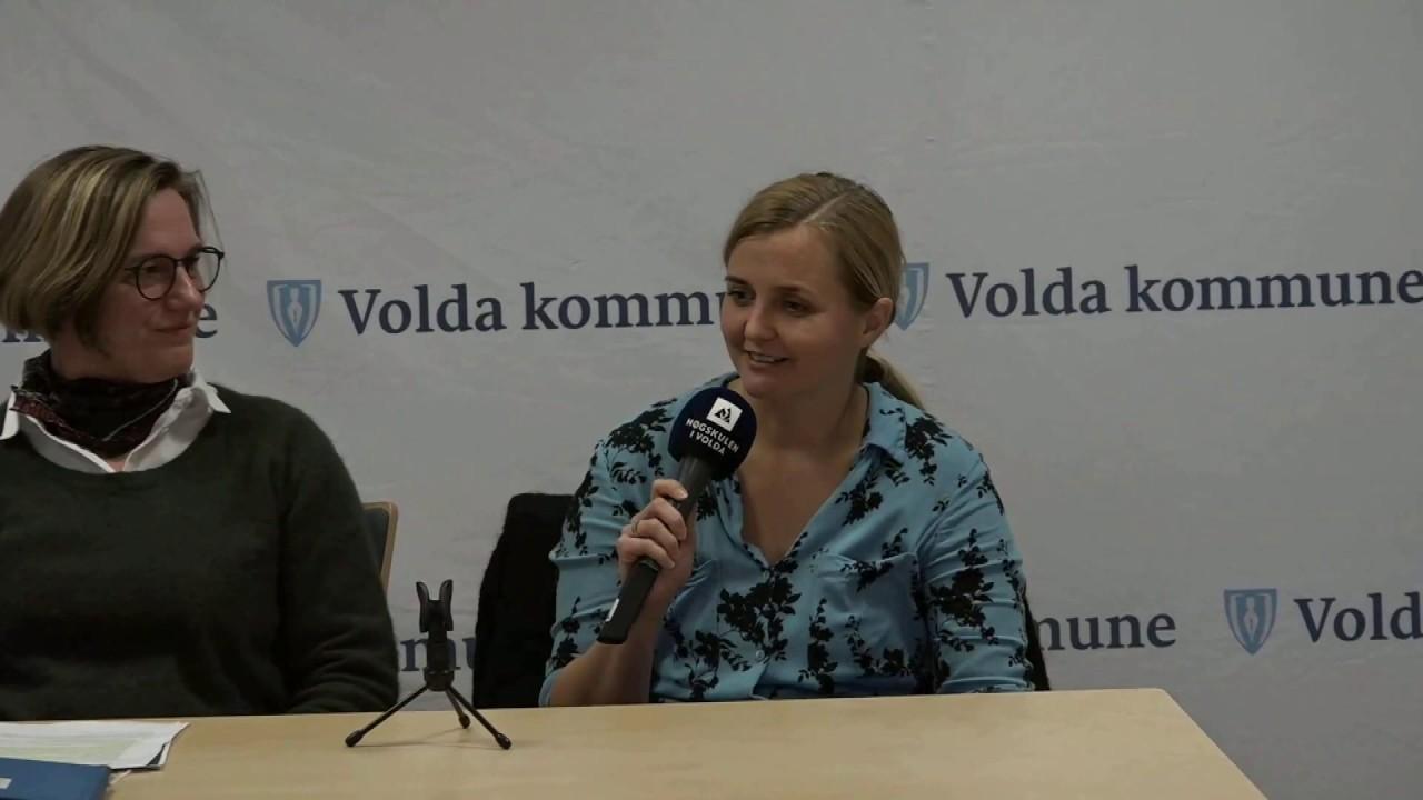 Pressekonferansen fra rådhuset i Volda om korona 11.03.2020