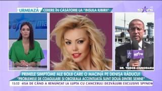 Primele simptome ale bolii care o macină pe Denisa Răducu!