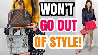 TOP 5 MINI BAGS *That WONT Go Out Of Style* Ft. LV, Dior, Chanel, Hermes, Lilysilk With MOD Shots!