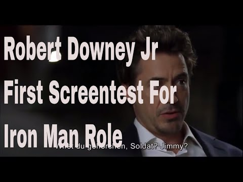 Robert Downey Jr's first audition for the role of Iron Man