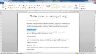 [3.1.7] Mettre en forme un rapport long (1 de 6)