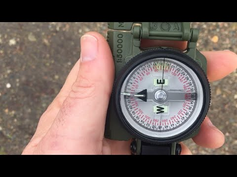 THIS is how to use a Compass (Lensatic Compass for beginners)