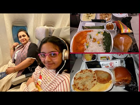 Download Emirates Economy Class Indian Food Review (India To USA) | Flight Vlog | Simple Living Wise Thinking HD Mp4 3GP Video and MP3