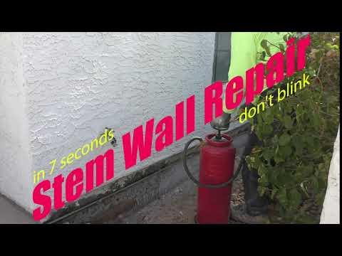 Gilbert Stem Wall Repair in 7 Seconds