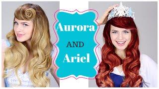Disney's Ariel AND Aurora Hair tutorial