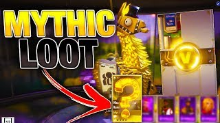 MYTHIC LOOT LLAMA OPENING! | Best Llama Opening Yet! | Fortnite Save the World PVE