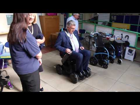 TGA Whill Model C powerchair at Get Going Live! - the Sutton Mayor test drive YouTube video thumbnail