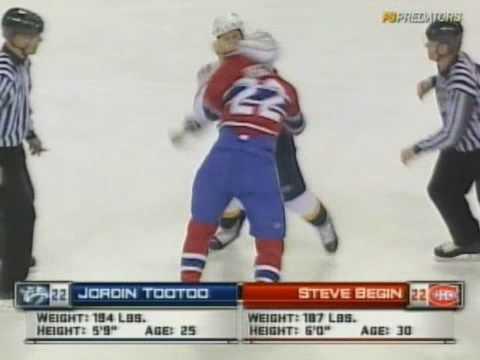 Steve Begin vs. Jordin Tootoo