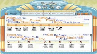 Magic Power - Triumph - Guitaraoke, Chords & Lyrics, Guitar Lesson - playwhatyoufeel.com