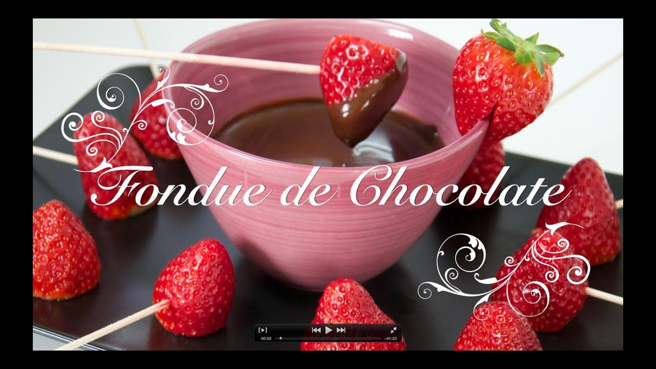 Fondue de Chocolate | Como hacer Fondue de Chocolate | Fondue de Chocolate Receta