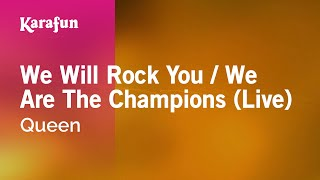 Gambar cover Karaoke We Will Rock You / We Are The Champions (Live) - Queen *