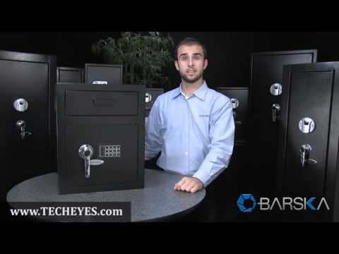 New Large Depository Safe Drop Box by Barska Video-Review by www.TECHEYES.com
