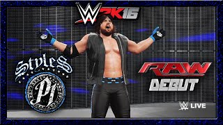 WWE 2K16   AJ Styles   CAW Formula+Entrance & Finisher
