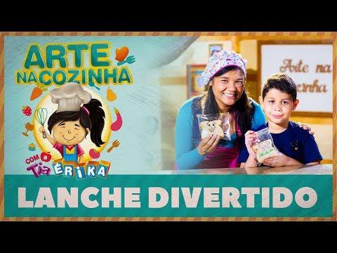 LANCHE DIVERTIDO | Arte na cozinha com a Tia Érika