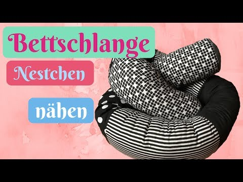 Bettumrandung/ Nestchen selber nähen OHNE Schnittmuster -Nähanleitung Bettschlange