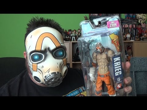 Borderlands Krieg The Psycho McFarlane Action Figure Unboxing Gaming Toy Review