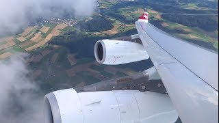 Swiss A340-300 - Beautiful Takeoff out of Zurich to Dusseldorf | Kholo.pk