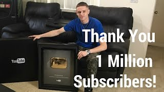Vlog opening YouTube 1 million subscriber button God bless everyone and thank