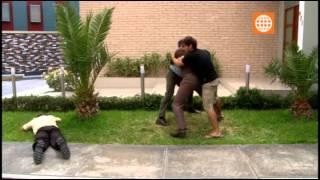 Luchito golpea a Nicolás