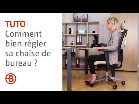 Comment bien régler sa chaise de bureau ? - Bruneau